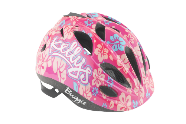 Hlema pro nejmenší slečny KELLYS BUGGIE Pink flower, má deste větracích otvorů a síťka proti hmyzu.