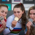 MS MTB 2018 Lenzerheide.  Světovou šampionkou v elitě je Kate Courtney, Jitka Škarnitzlová si dojela pro životní maximum